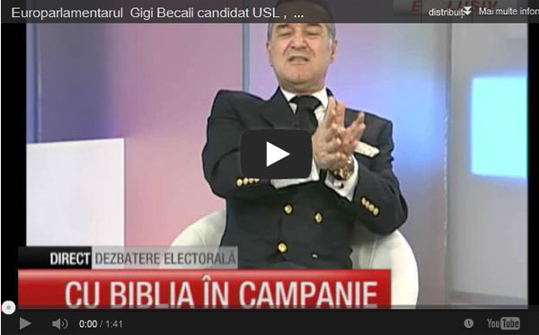 Uniunea Baptista reactioneaza la jignirile lui George Becali
